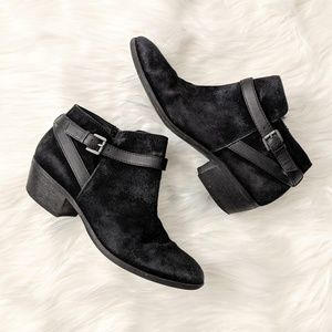 Sam Edelman black suede booties ankle boots size 6